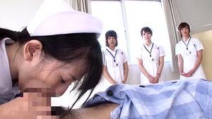 笑顔でディープスロートwww白衣の天使のおしゃぶり性欲処理で入院天国www
