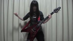 【ギターJC】ちょっwww中3黒髪少女がジューダスプリーストのペインキラー完コピwww