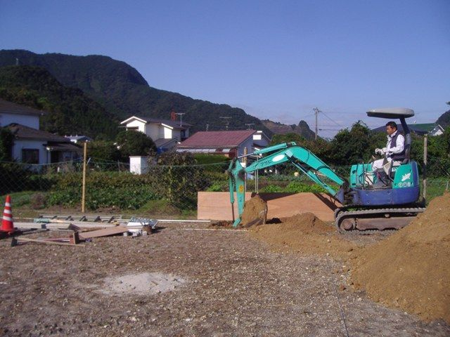 重富の家〜浄化槽埋設工事