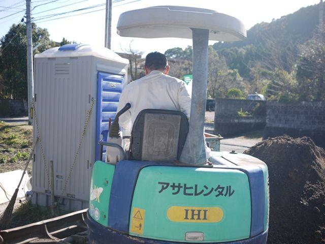 国分の家・浄化槽埋設工事