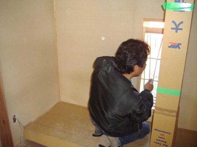 国分の家・建具調整中