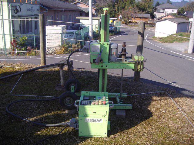 蒲生・上久徳の家 地盤調査機械