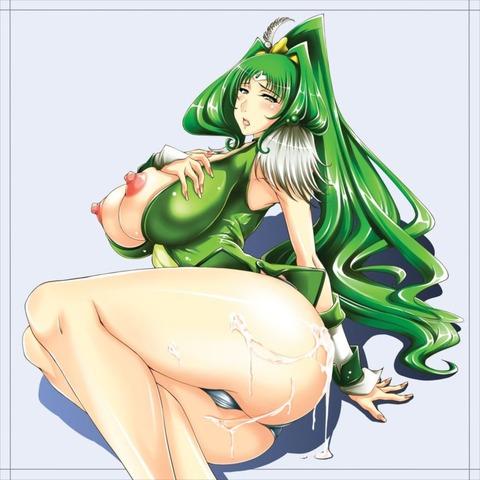 キュアマーチ エロ画像 スマイルプリキュア 緑キュア (89)