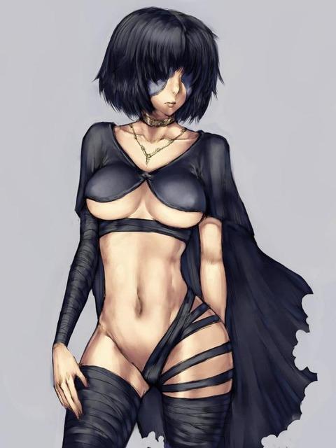 デモンズソウル 黒衣の火防女 エロ画像 こくいのひもりめ (13)