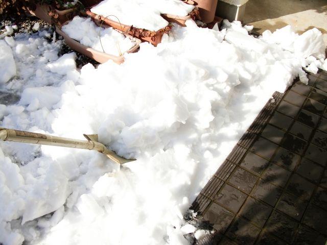 雪のために予定が狂いました。