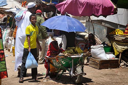 出た、ソマリランドでも日傘出現