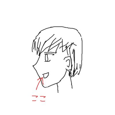 アニメキャラ横顔イラスト