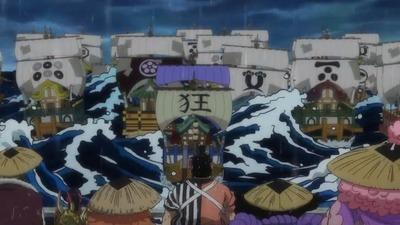 アニメワンピース船上
