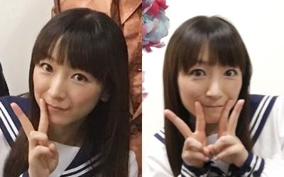女子高生スタイルの堀江由衣さん