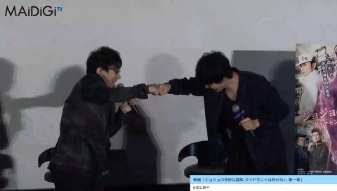 【動画】 実写×アニメがまた実現!「ジョジョの奇妙な冒険」の声優・小野友樹さんと俳優の山崎賢人さんがそろい踏み!