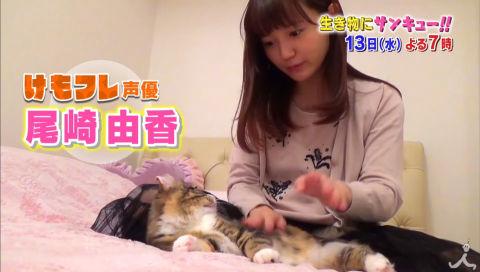 【朗報】 今夜、地上波で「けもフレ」声優・尾崎由香さんの自宅でのふれあいの様子を大公開!【動画あり】