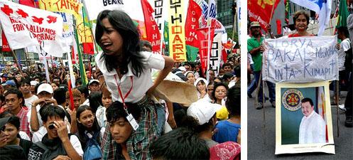 アロヨ大統領抗議集会