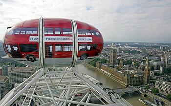 2階建てバス型ゴンドラ
