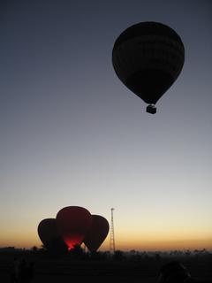エジプト ルクソール 気球