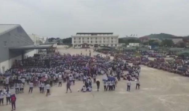 ベトナムの韓国衣類メーカーの工場でストライキ