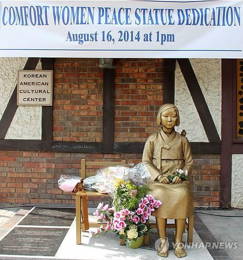 アメリカ慰安婦少女像の像
