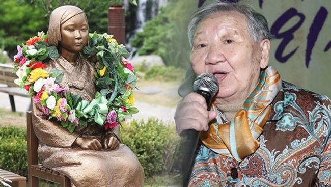 日本軍慰安婦被害者キル・ウォンオクさん