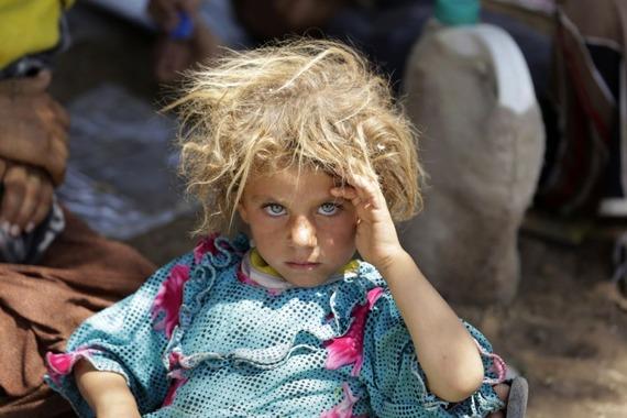 シリア人難民の少女