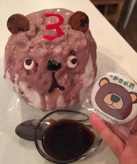 日本のマスコットかき氷