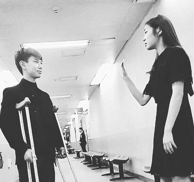 デニステン選手とキムヨナ