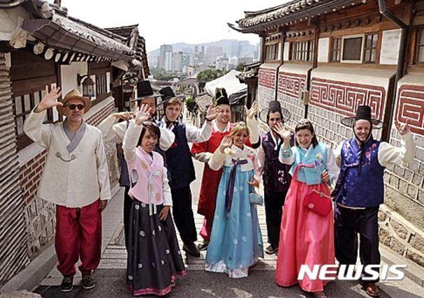 韓国を訪れた外国人観光客