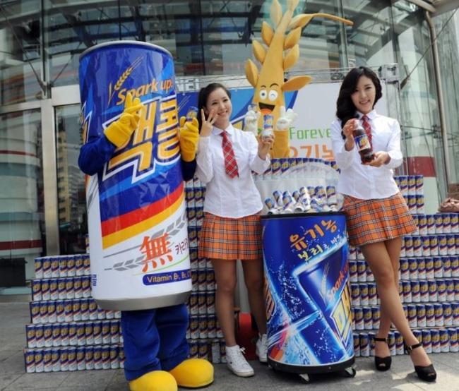 メッコールのプロモーションをする韓国美女