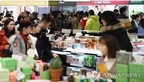 韓国免税店打撃倒産
