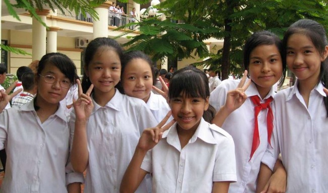 ベトナムの女子高生