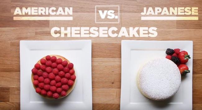 日本とアメリカのチーズケーキ