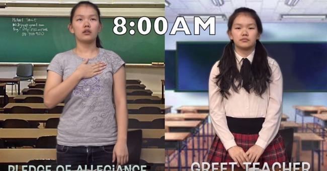 日本とアメリカの高校生の日常生活を比較
