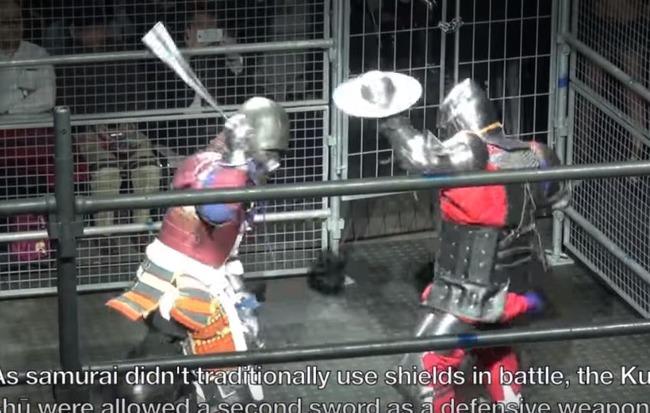 侍とナイトの戦い