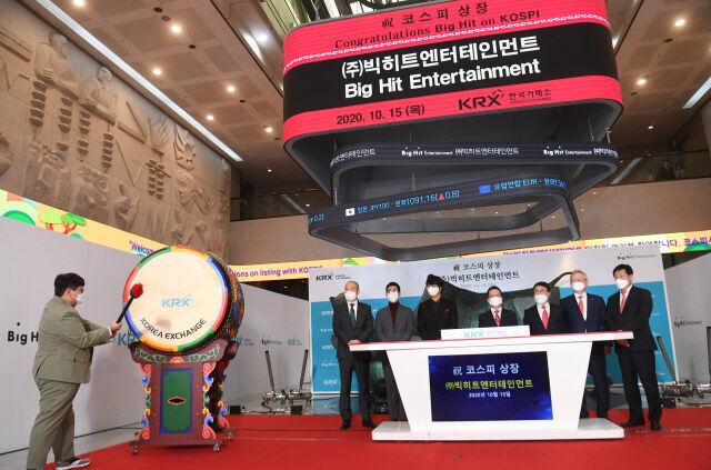 韓国人「株価を水増しして食い逃げか?」BTS株を4大株主が大量に売りさばき3600億ウォンを現金化していた事が判明‥ 韓国の反応