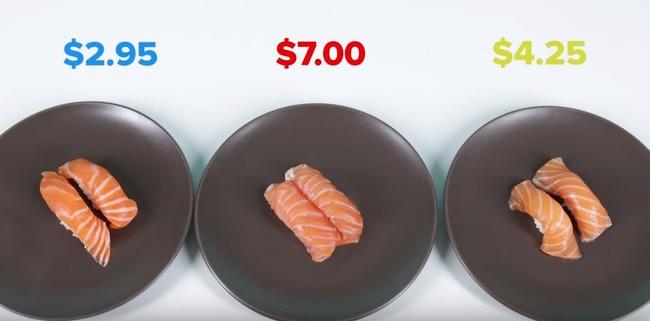 外国人による寿司の味比べ