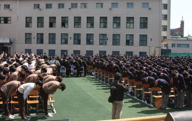 韓国を訪れた日本人修学旅行生