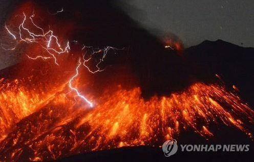 桜島火山噴火