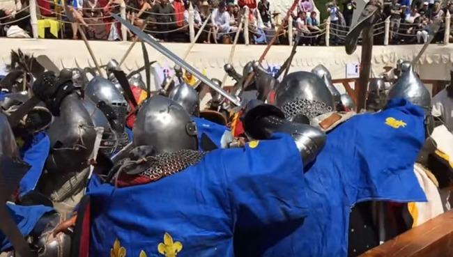 中世の騎士の闘い
