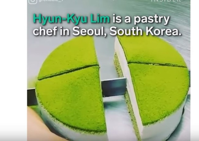 韓国の抹茶チーズケーキ