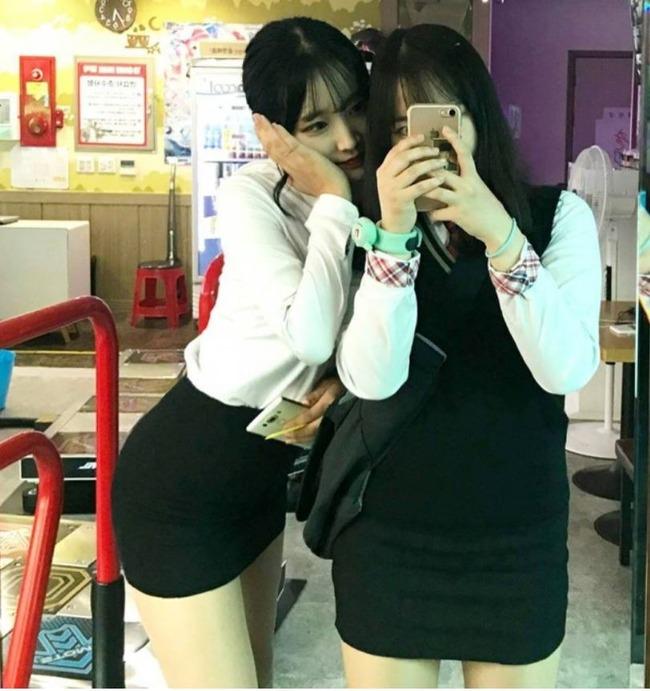 韓国の美少女女子高生
