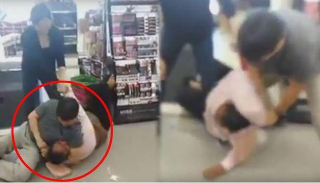 米国で韓国人店主が黒人女性を暴行