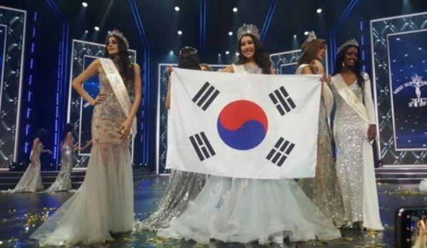 2017ミス・スプラナショナル大会で、韓国代表のキム・ジェニーさん(24)が優勝