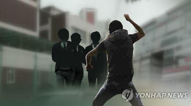 韓国人教師が生徒に体罰