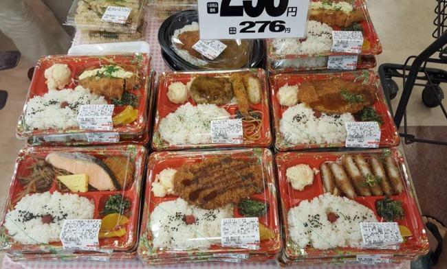 日本の激安コンビニ弁当