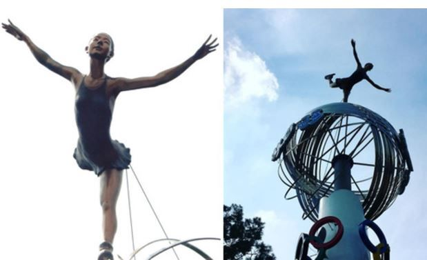 キム・ヨナの銅像