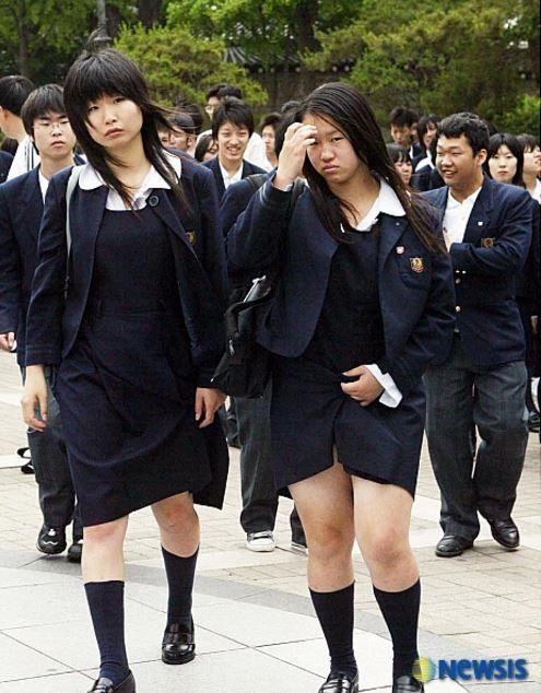 韓国を訪問した日本の女子高生