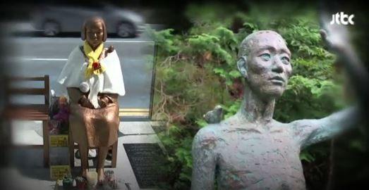 慰安婦像の隣に強制徴用労働者像を建てる予定