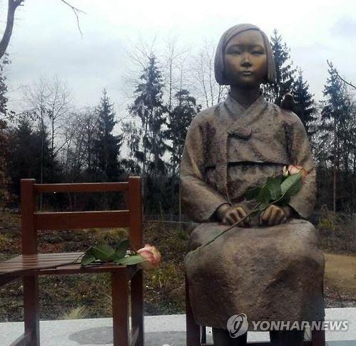 ドイツ・ヴィーゼント公園に建てられたヨーロッパ初の平和の少女像