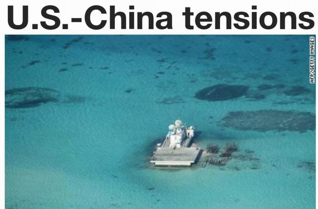 中国が建設している人工島や、軍事拠点
