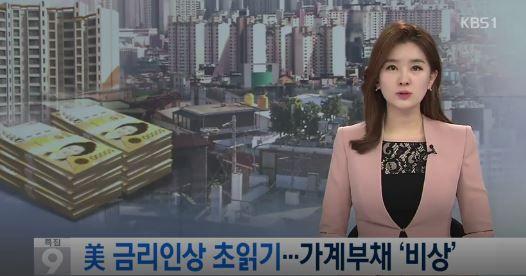 米国の基準金利の引き上げで韓国の家計負債が危機
