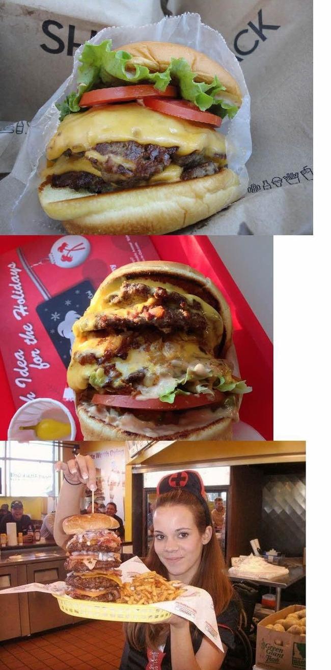アメリカの巨大バーガー