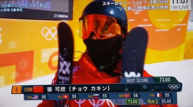 海外「超過金?」中国人選手のチョウ・カキンさんが、日本のネット上で注目を受ける 海外の反応
